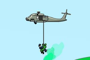武装直升机解救人质