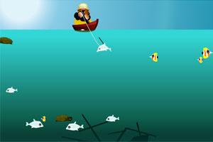 《黄金矿工钓鱼版》游戏画面1