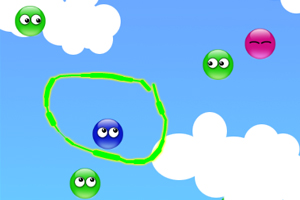 《画线圈小球》游戏画面1