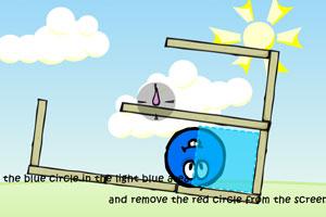 《保护蓝色球》游戏画面1