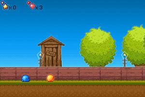 《蓝色小球闯天关》游戏画面1
