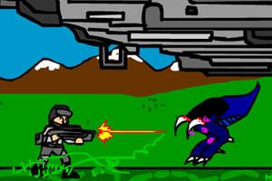 《特种兵大战外星人》游戏画面1