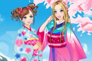 《姐妹和服秀》游戏画面1