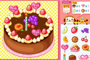 《制作感恩节蛋糕》游戏画面1