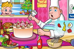 《诱人的圣诞节蛋糕》游戏画面1
