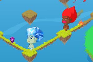 《冰火人找钻石》游戏画面1