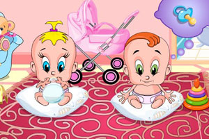 《双胞胎宝宝》游戏画面1