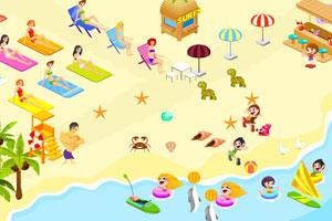《海滩装饰》游戏画面1