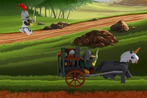 《乐高骑士追马车》游戏画面1