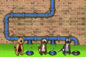 《小狗喝水》游戏画面1