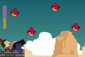 《大炮打小鸟》游戏画面1