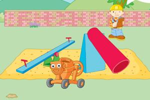 《巴布工程师建游乐场》游戏画面1