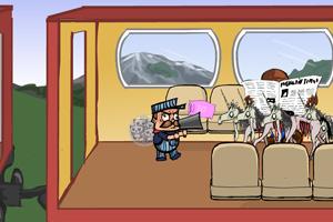 《猫叔打僵尸》游戏画面1