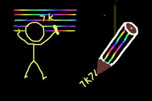 《7K7K彩虹笔涂鸦会馆》游戏画面1