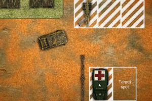 《停靠军队重卡》游戏画面1