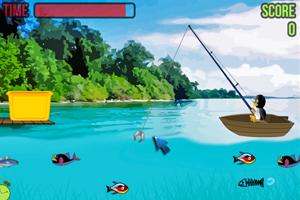 《企鹅玩钓鱼》游戏画面1