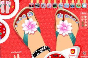 《涂脚指甲油》游戏画面1