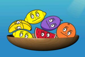 《盘子装水果》游戏画面1