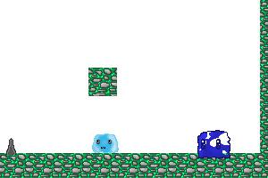 《蓝色小软的冒险》游戏画面1