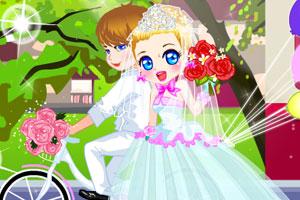 《浪漫婚礼单车游》游戏画面1