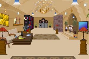 《明亮的客厅逃脱》游戏画面1