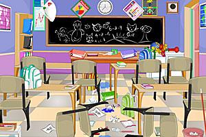 《清洁凌乱的教室》游戏画面1