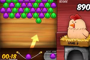 《小鸡泡泡龙》游戏画面1