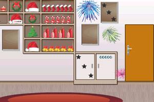 《圣诞卧室逃脱》游戏画面1