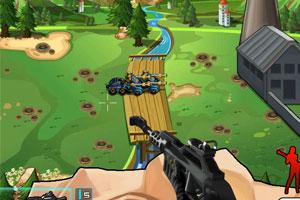 《城墙阻击战选关版》游戏画面1