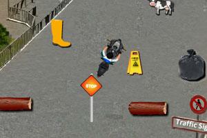 《城市摩托停车》游戏画面1