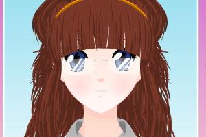 《卡通女孩换发型》游戏画面1