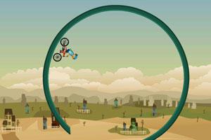 《自行车技巧障碍赛》游戏画面1