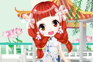 《可爱旗袍女孩》游戏画面1