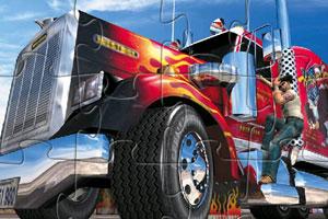 《美国大卡车拼图》游戏画面1