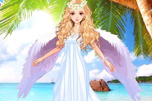 海滩的美丽天使
