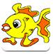 可爱小鱼填颜色