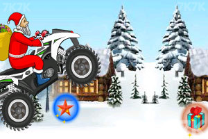 《圣诞老人冰山摩托》游戏画面7
