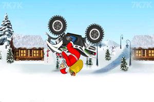 《圣诞老人冰山摩托》游戏画面9