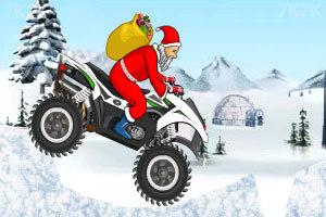 《圣诞老人冰山摩托》游戏画面3