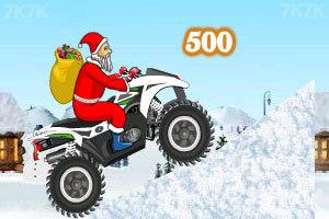 《圣诞老人冰山摩托》游戏画面1
