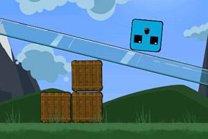 《小方块平稳落地》游戏画面1