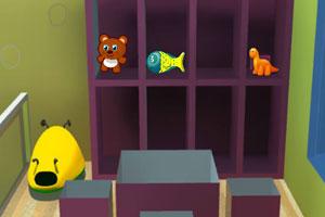 《儿童卧室逃离》游戏画面1