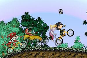 《疯狂单车争霸赛2无敌版》游戏画面1