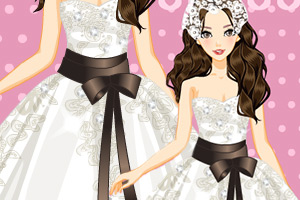 《美丽蕾丝婚纱》游戏画面1