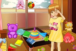 《整理淘气宝贝的房间》游戏画面1