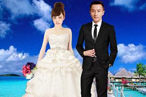 杨幂刘恺威海岛婚礼