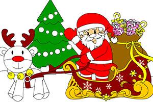 圣诞画卷填色