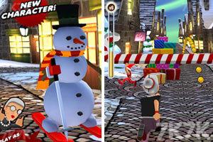 《愤怒奶奶玩跑酷圣诞版》游戏画面2