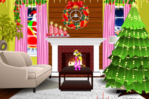 《家庭圣诞布置》游戏画面1