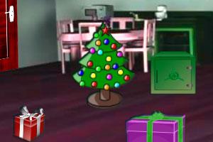 《圣诞红宝石房间逃脱》游戏画面1